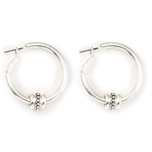 Picture of Ella Hoop Silver Earrings