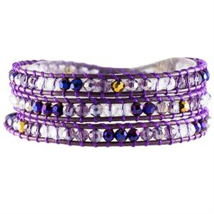Picture of Violet Crystal Beaded Wrap