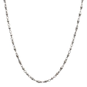 """Picture of Silver Multifaceted Link Chain - 28"""""""
