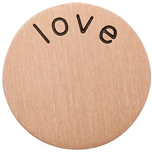 Picture of 'Love' Medium Rose Gold Coin
