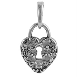 Picture of Silver Heart Lock Droplet