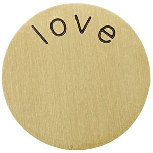 Picture of 'Love' Large Gold Coin