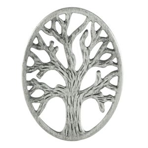 Picture of Silver Tree of Life Oval Screen