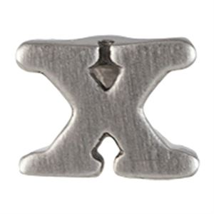 Picture of Silver 'X' Slider Charm