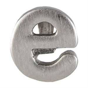 Picture of Silver 'E' Slider Charm