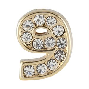 Picture of Gold Number Nine Charm