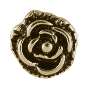 Picture of Gold Vintage Rose Charm