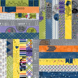 "Picture of Frightful & Furry by Lauren Hinds 2"" Border Strips: Furry Pets - Set 12"