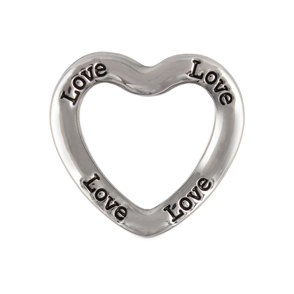 Youngevity - 90 For Life. \'Love\' Large Silver Heart Frame