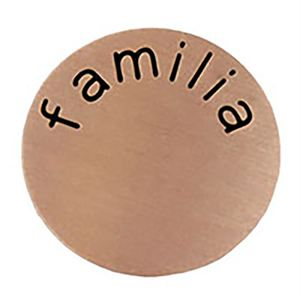 Picture of 'Familia' Large Rose Gold Coin