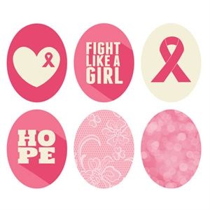Picture of Breast Cancer Awareness Oval Locket Backdrops