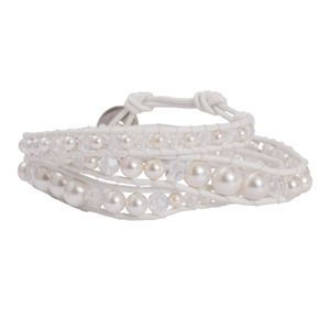 Picture of White Pearl Beaded Wrap