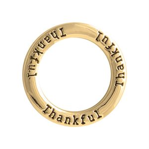 thankful large gold frame